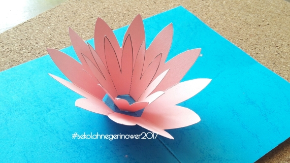 Lotus Pop up Card